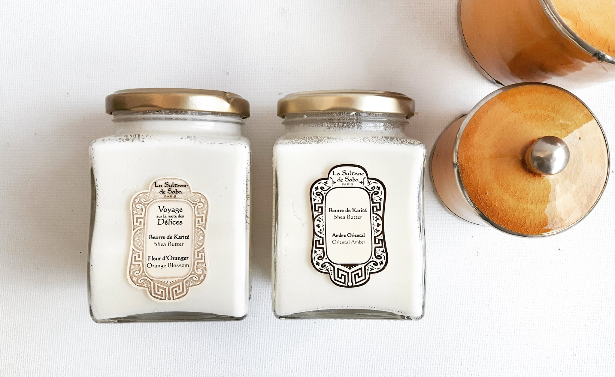 Beurres de Karité Fleur d'Oranger et Ambre Oriental La Sultane de Saba